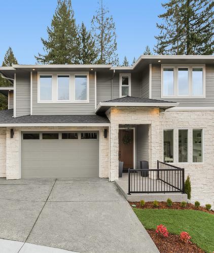 Imagen de casa gris-crédito para casa y terreno