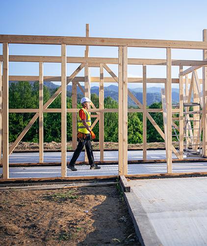 Imagen de construcción de una casa-crédito para casa y terreno